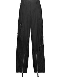 Belted Cotton Straight-leg Pants