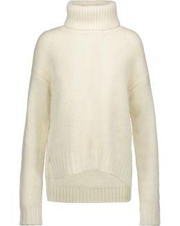 Jake Asymmetric Wool Turtleneck Sweater