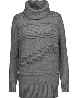 Talassa Paneled Wool And Cashmere-blend Turtleneck Sweater