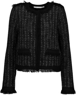 Sheila Metallic Fringed Bouclé-tweed Jacket