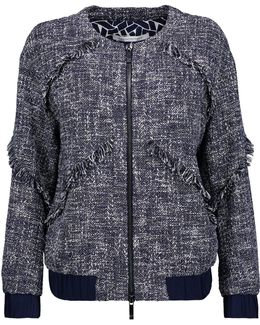 Braelyn Tweed Bomber Jacket