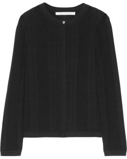 Lynne Open And Ribbed-knit Cardigan