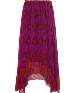 Louella Printed Silk-chiffon Midi Skirt