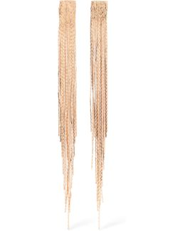 Fringed Gold-tone Earrings