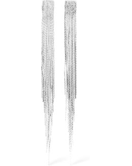 Fringed Silver-plated Earrings
