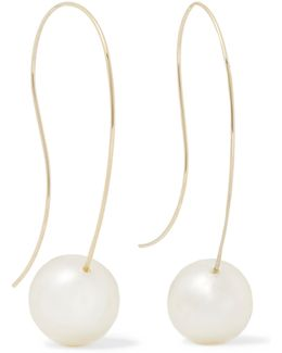 Faux Pearl Gold-tone Earrings
