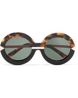 Hollywood Pool Round-frame Acetate Glasses