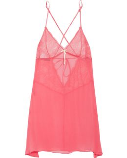 Valerie Silk-chiffon And Lace Chemise