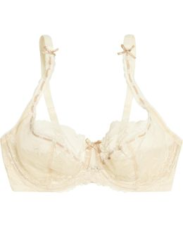 Amelie Lace And Stretch-tulle Underwired Bra