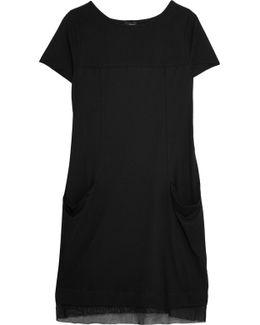 Adry Mesh-paneled Cotton-jersey Nightdress
