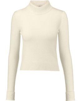 Felt Turtleneck Sweater