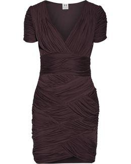 Ruched Jersey Mini Dress