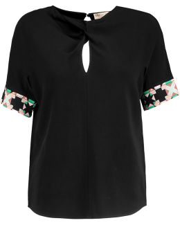 Knotted Crepe Top