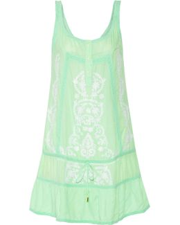 Jaz Embroidered Voile Dress