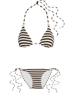 Key West Metallic Striped Triangle Bikini