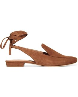 Bena Lace-up Suede Loafers