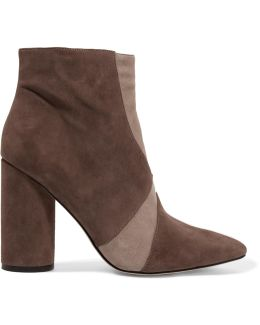 Knox Paneled Suede Ankle Boots