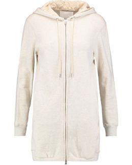 Corded Lace-paneled Cotton-jersey Hooded Jacket
