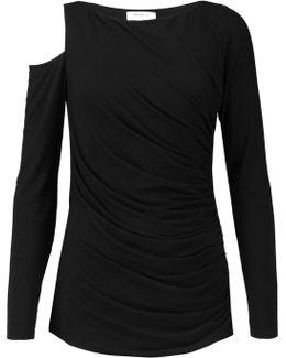 Cold Shoulder Stretch-jersey Top