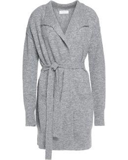 Maxima Belted Bouclé-knit Cardigan