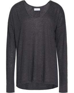 Striped Linen-blend Top