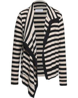 Ribbed Stretch-knit Cardigan