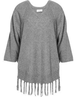 Fringe-trimmed Cashmere Sweater