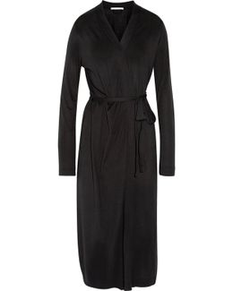 Pima Cotton And Modal-blend Jersey Robe