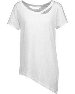 Asymmetric Cutout Slub Pima Cotton Pajama Top