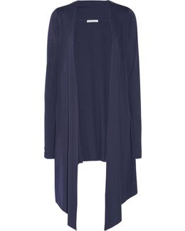 Asymmetric Pima Cotton And Modal-blend Jersey Robe