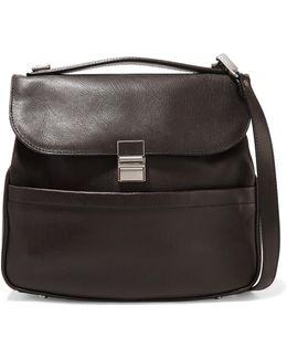 Kent Textured-leather Shoulder Bag