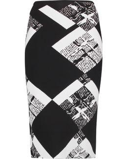 Archel Printed Stretch-jersey Skirt