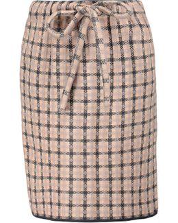Plaid Stretch-knit Mini Skirt