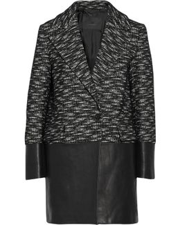 Benmore Wool-blend And Leather Coat