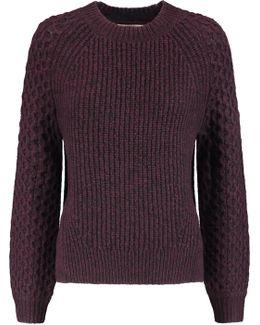 Monroe Paneled Textured-knit Sweater