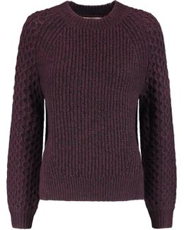 Monroe Paneled Textured-knit Sweater