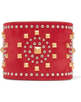 Studded Suede Cuff