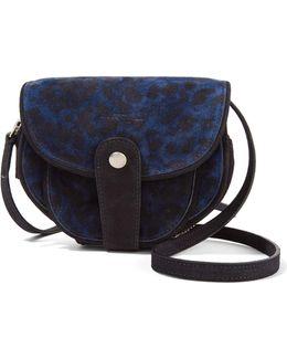 Momo Leopard-print Suede Shoulder Bag