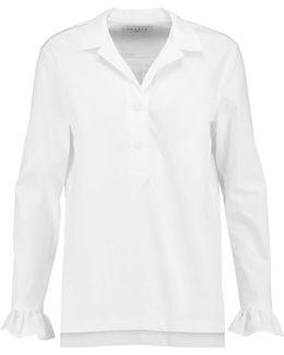 Ruffle-trimmed Cotton-poplin Shirt