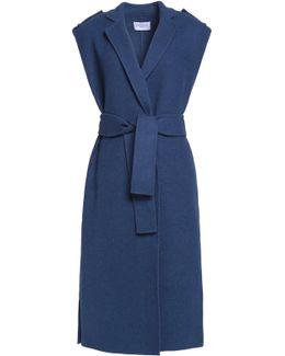 Belted Wool-blend Vest