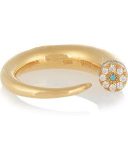 Thorn Eye Gold-plated Cubic Zirconia Ring
