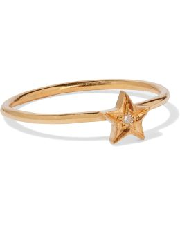 Polar Star Gold-plated Swarovski Crystal Ring