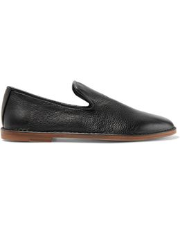 Percell Textured-leather Loafers