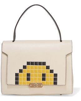 Bathurst Small Pixel Smiley Textured-leather Tote