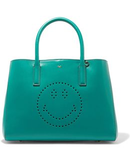 Ebury Small Smiley Perforated Leather Tote