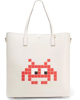 Ebury Space Invader Embossed Leather Tote