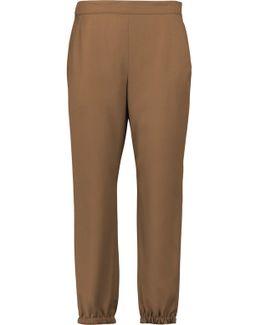 Wool-crepe Tapered Pants