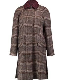 Houndstooth Alpaca And Wool-blend Coat