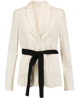 Belted Cotton-faille Blazer