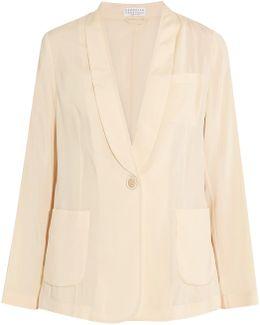 Silk-blend Blazer